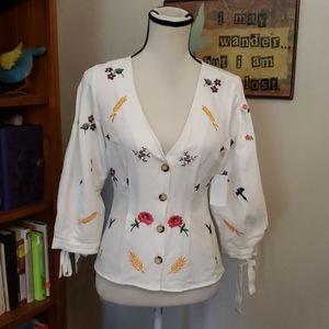 Topshop Linen blend blouse Size 4